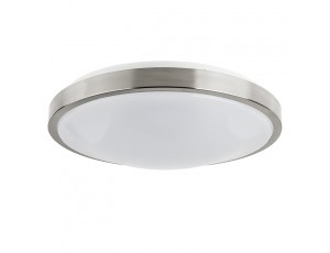 14 flush mount led ceiling light w brushed nickel. Black Bedroom Furniture Sets. Home Design Ideas