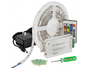 LED Light Strip Full Kit with Multi Color LEDs - LED Tape Light with 9 SMDs/ft., 3 Chip RGB SMD LED 5050