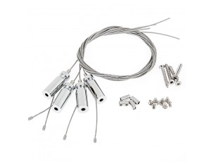 LED Panel Light Suspension Kit Mounting Hardware for 36W LED Panels: All Included Hardware
