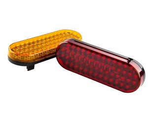 PT series Oval Stop/Tail/Turn LED Truck Lamp: Available In Red & Amber