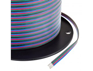 22 Gauge Wire - Four Conductor RGB Power Wire,