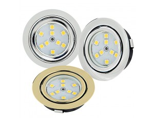 Recessed LED Puck Lights - 9 LED - 15 Watt Equivalent - 140 Lumens