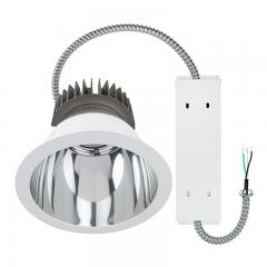 "Commercial LED Downlight Retrofit for 10"" Cans - Recessed Light with Reflector Trim - 290W Equivalent - 2900 Lumens"