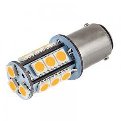 1142 LED Bulb - 18 SMD LED Tower - BA15D Bulb - Amber