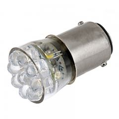 1142 LED Bulb - 15 LED Forward Firing Cluster - BA15D Bulb - 24VDC Red