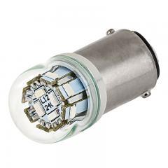 1142 LED Bulb w/ Stock Cover - 12 SMD LED - BA15D Bulb - 1142 Red Globe