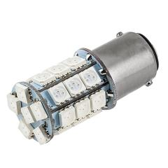 1142 LED Landscape Light Bulb - 27 SMD LED Tower - BA15D Retrofit - 365 Lumens - Red