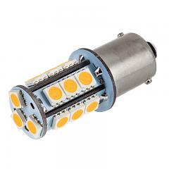 1156 Boat and RV LED Light Bulb - (18) SMD LED Tower - BA15S Retrofit Base - 325 Lumens - Amber