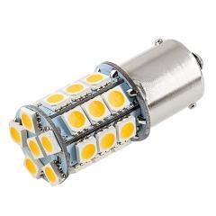 1156 Boat and RV LED Light Bulb - (27) SMD LED Tower - BA15S Retrofit Base - 420 Lumens - Amber