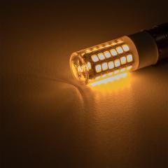1156 LED Light Bulb - (51) SMD LED Tower - BA15S Base with Lens - Amber