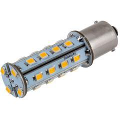 1156 LED Light Bulb - (28) SMD LED Tower - BA15S Base - Amber