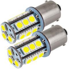 1156 LED Landscape Light Bulb - (18) SMD LED Tower - BA15S Retrofit Base - 325 Lumens