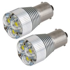 1156 LED Light Bulb with Removable Lens - (3) High Power LEDs - BA15S Base