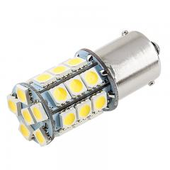 1156 Boat and RV LED Light Bulb - (27) SMD LED Tower - BA15S Retrofit Base - 420 Lumens - Amber