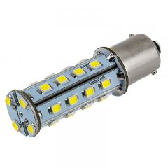 1156 LED Light Bulb - (28) SMD LED Tower - BA15S Base - Amber