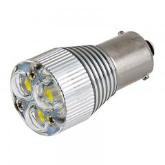 1156 LED Boat and RV Light Bulb w/ Removable Lens - 3 High Power LED - BA15S Retrofit - 240 Lumens