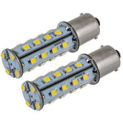 1156 LED Light Bulb - (28) SMD LED Tower - BA15S Base