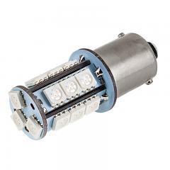 1156 Boat and RV LED Light Bulb - (18) SMD LED Tower - BA15S Retrofit Base - 325 Lumens - Red