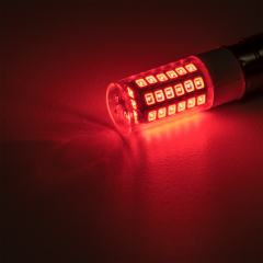 1156 LED Light Bulb - (51) SMD LED Tower - BA15S Base with Lens - Red