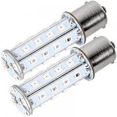 1156 LED Light Bulb - (28) SMD LED Tower - BA15S Base