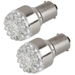 1156 LED Bulb - 19 LED Forward Firing Cluster - 6 VDC