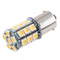 1156 Boat and RV LED Light Bulb - (27) SMD LED Tower - BA15S Retrofit Base - 420 Lumens - Warm White