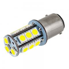 1157 LED Bulb - Dual Function 18 SMD LED Tower - BAY15D Bulb - Red