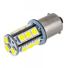 1156 Boat and RV LED Light Bulb - (18) SMD LED Tower - BA15S Retrofit Base - 325 Lumens - Amber