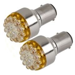 1157 LED Bulb - Dual Function 19 LED Forward Firing Cluster - BAY15D Bulb