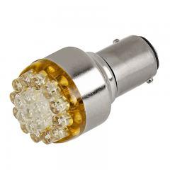 1157 LED Bulb - Dual Function 19 LED Forward Firing Cluster - BAY15D Bulb
