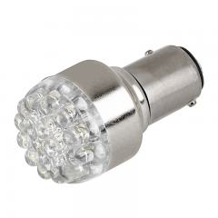 1157 LED Boat and RV Light Bulb - Dual Function 19 LED Forward Firing Cluster - BAY15D Retrofit - 60 Lumens