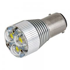1157 LED Boat and RV Light Bulb w/ Removable Lens - Dual Function 3 High Power LED - BAY15D Retrofit