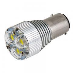 1157 LED Bulb w/ Removable Lens - Dual Function 3 High Power LED - BAY15D Bulb