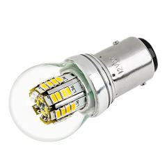 1157 LED Boat and RV Light Bulb w/ Stock Cover - Dual Function 36 SMD LED Tower - BAY15D Retrofit - 270 Lumens