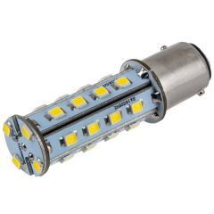 1157 LED Boat and RV Light Bulb - Dual Function 28 SMD LED Tower - BAY15D Retrofit - 675 Lumens - Natural White