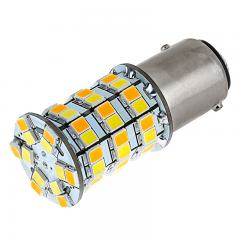 1157 Switchback LED Bulb - Dual Function 60 SMD LED Tower - A Type - BAY15D Bulb - Amber White
