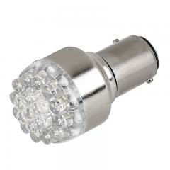 1157 LED Bulb - Dual Function 19 LED Forward Firing Cluster - BAY15D Bulb - Red 15 Degree 6VDC