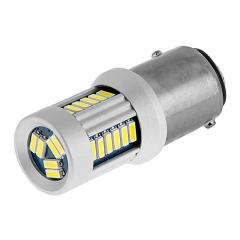 1157 CAN Bus LED Bulb - Dual Function 30 SMD LED Tower - BAY15D Bulb - Amber