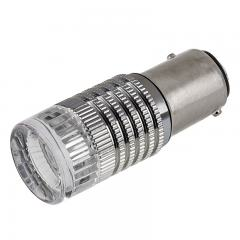 1157 LED Bulb w/ Reflector Lens - Dual Function 1 High Power LED - BAY15D Bulb