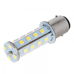 1157 LED Boat and RV Light Bulb - Dual Function 28 SMD LED Tower - BAY15D Retrofit - 675 Lumens - Red
