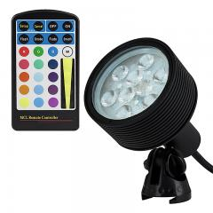 18W Color Changing RGB LED Landscape Spotlight w/ Remote - 40 Watt Equivalent - 525 Lumens