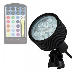 18W Color Changing RGB LED Landscape Spotlight - 525 Lumens - Remote Sold Separately