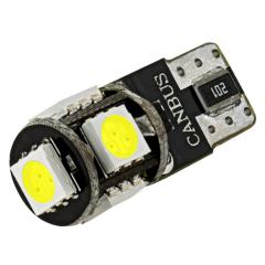 194 CAN Bus LED Bulb - 5 SMD LED Tower - Miniature Wedge Base - Amber