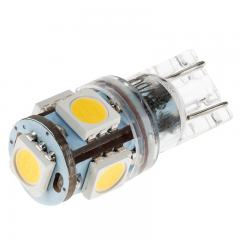 194 LED Bulb - 5 SMD LED Tower - Miniature Wedge Base
