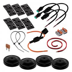 Installation Kit for 2 Red LED Forklift Lights