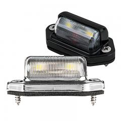 License Plate LED Truck and Trailer Light - Universal LED License Plate Light w/ 2 LEDs - Pigtail Connector