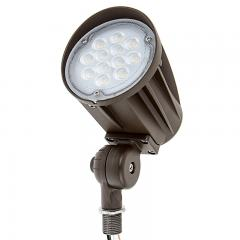28W Knuckle Mount LED Spotlight - Bullet Style - 5000K - 100W Equivalent - 120V - 3300 Lumens