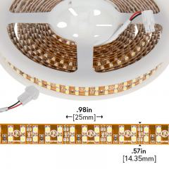 3528 Single-Color LED Strip Light - Dual Row LED Tape Light w/ Plug-and-Play LC2 Connector - 24V - IP20 - 475 lm/ft