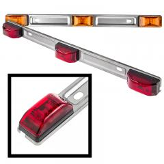 "Truck and Trailer LED ID Light - 14"" 3-Lamp LED Identification Light Bar - Pigtail Connector - Surface Mount"