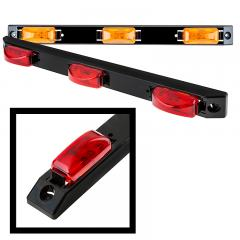 "Truck and Trailer LED ID Light - 18"" 3-Lamp LED Identification Light Bar - Pigtail Connector - Surface Mount"